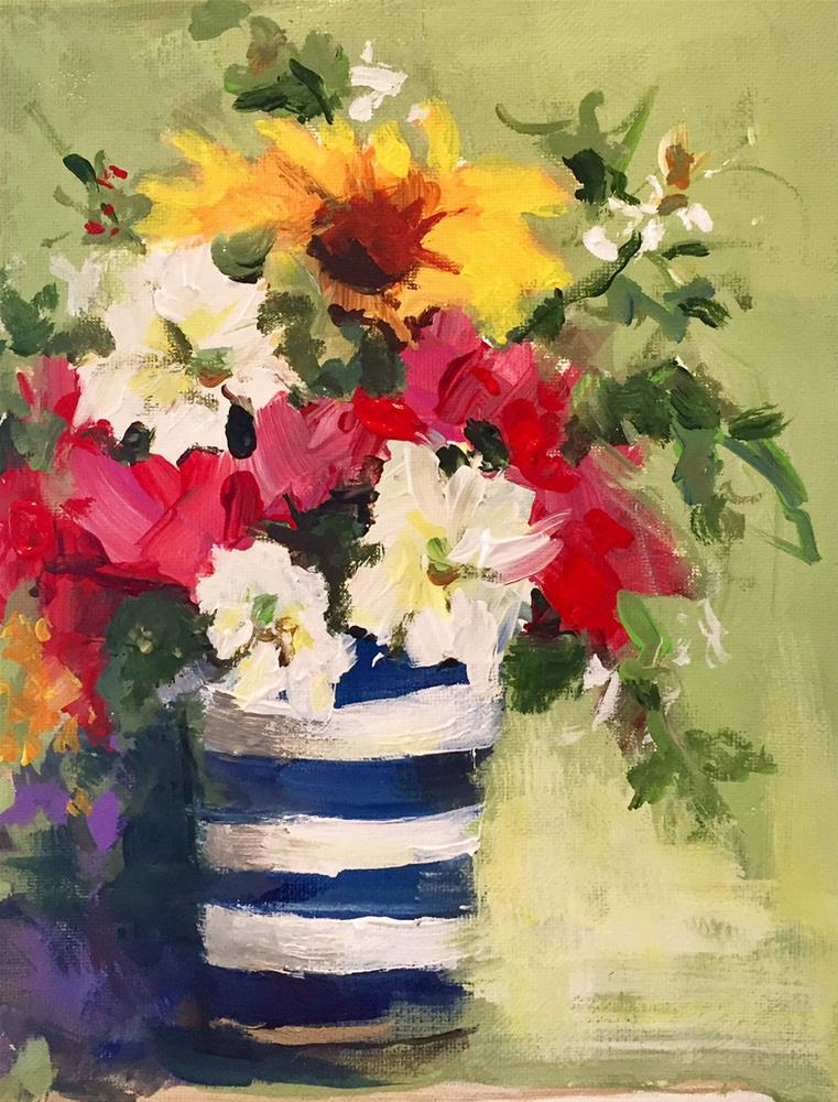 """Red, White and Blue"" original fine art by Marcia Hodges"