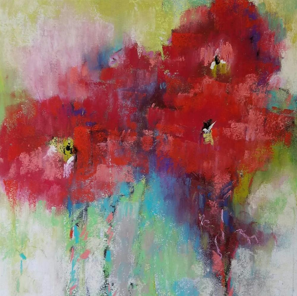 """Red Rubies"" original fine art by Cindy Haase"