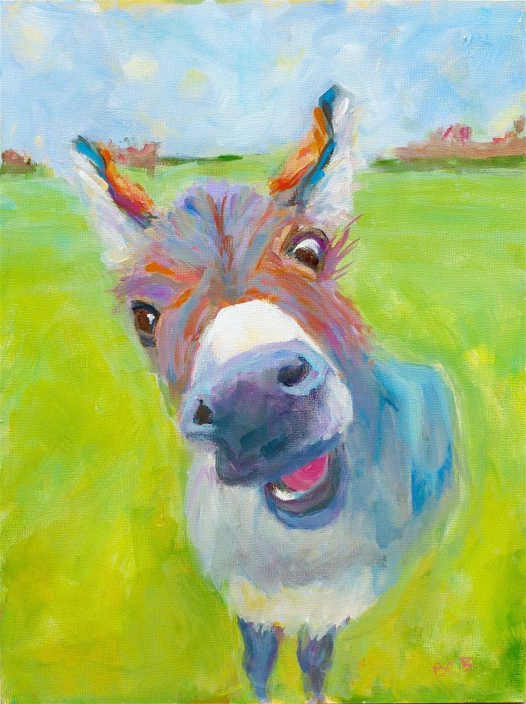 """""""Hello There"""" original fine art by Beth Carrington Brown"""