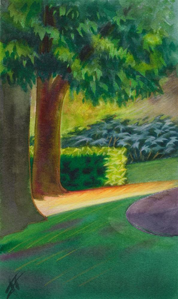 """Washington Park Trees"" original fine art by Mark Allison"