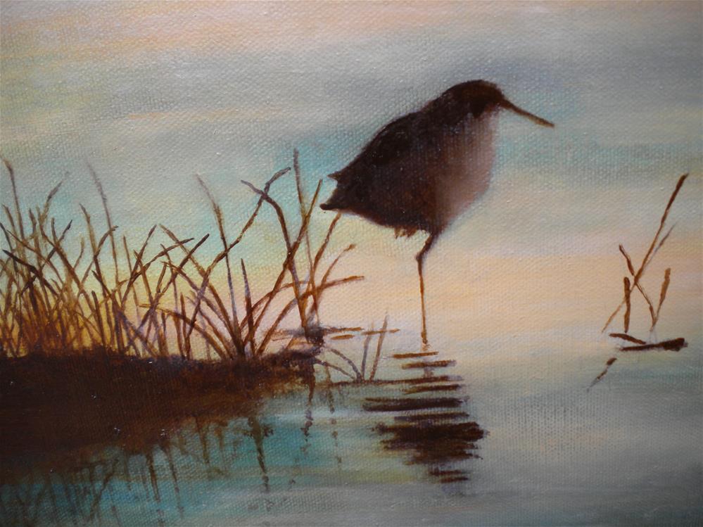 """Sunset"" original fine art by Hilarie Johnson"