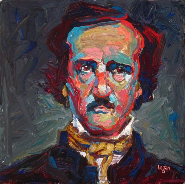 """My E.A. Poe"" original fine art by Raymond Logan"