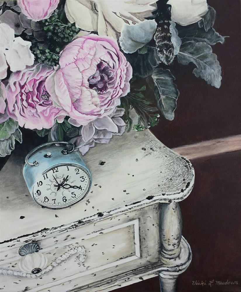 """""""What time is it?"""" original fine art by Vicki Meadows"""