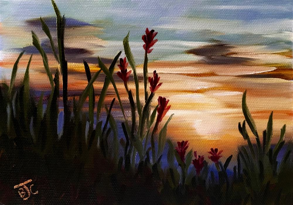 """Paintbrush at Dusk"" original fine art by Bobbie Cook"