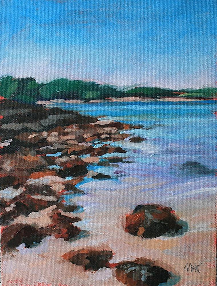 """Rocks and Seaweed"" original fine art by Mary Anne Cary"
