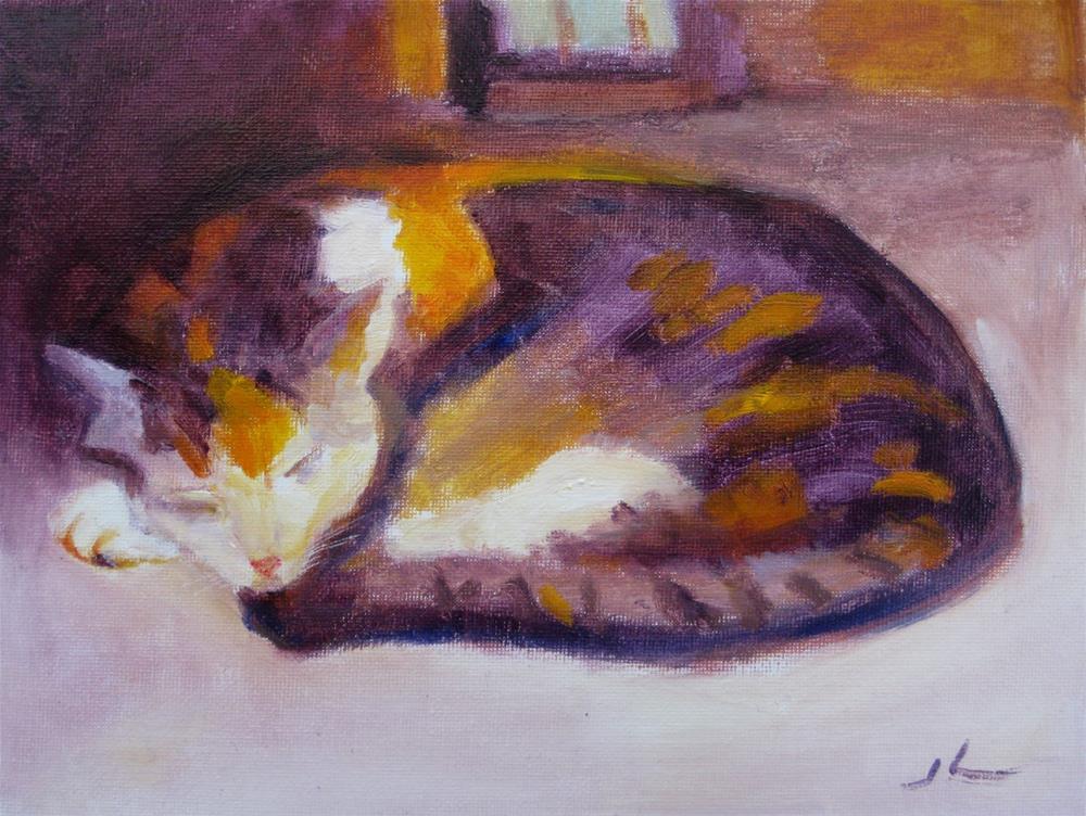 """""""Sleeping Beauty"""" original fine art by Julia Lu"""