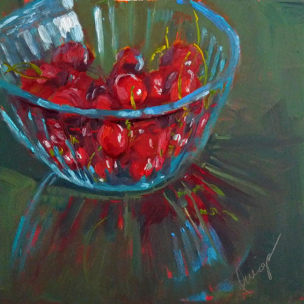 """""""Life Is Like A Bowl Of..."""" original fine art by Sharman Owings"""