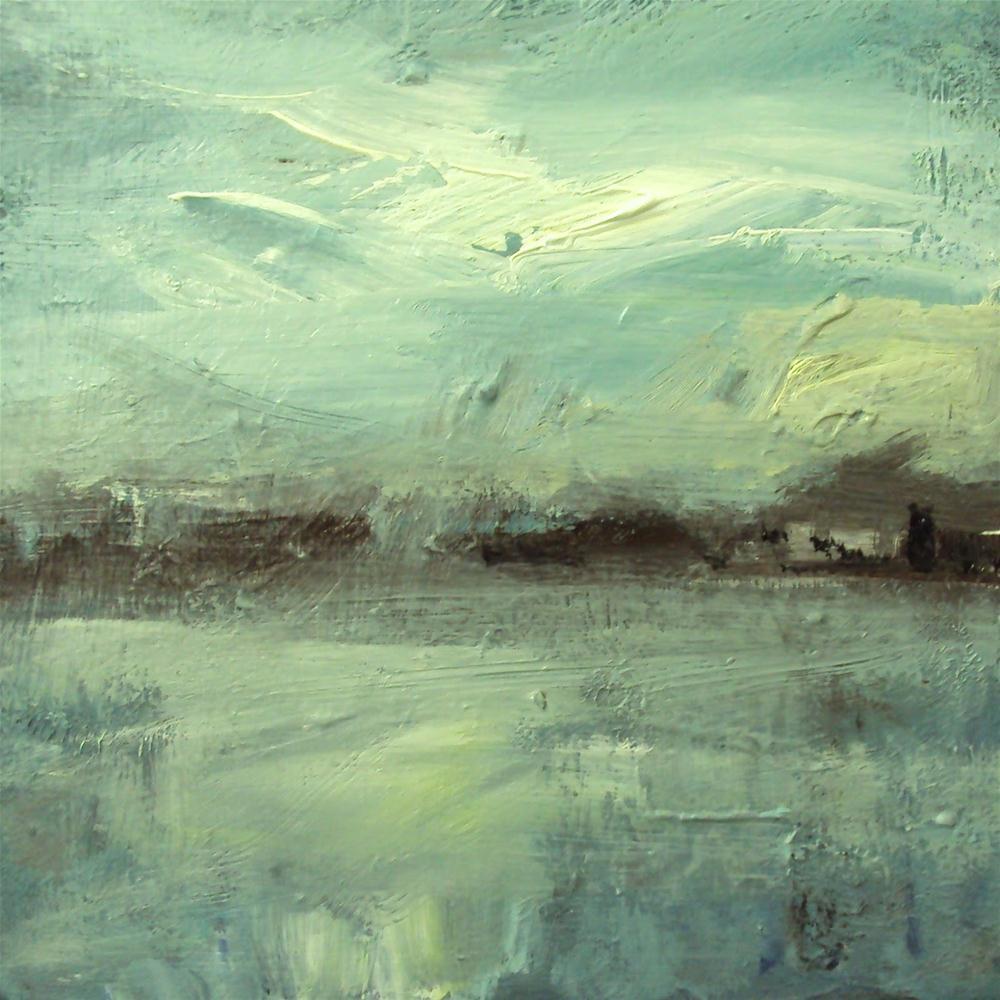 """""""blue"""" original fine art by Parastoo Ganjei"""