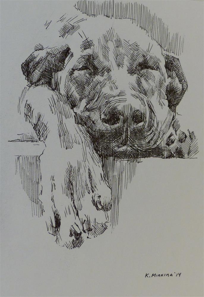 """adopt3"" original fine art by Katya Minkina"