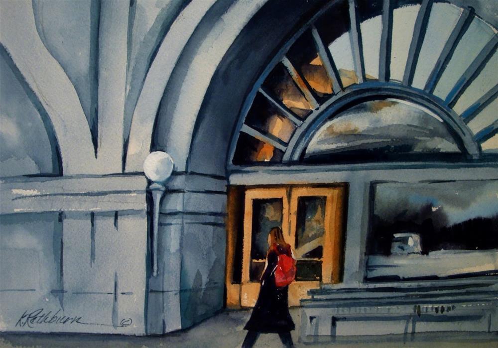 """Roosevelt University - Chicago"" original fine art by Kathy Los-Rathburn"