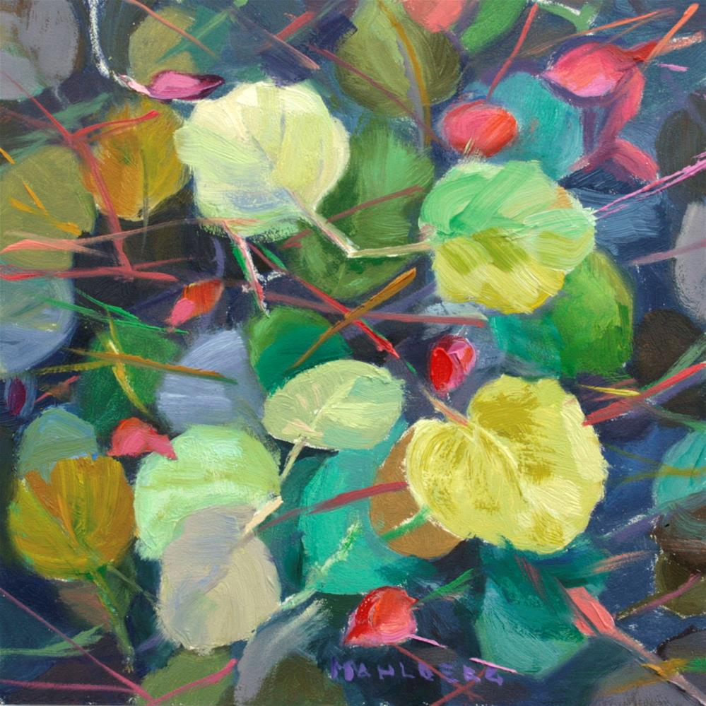"""Spring Leaves"" original fine art by Cynthia Mahlberg"