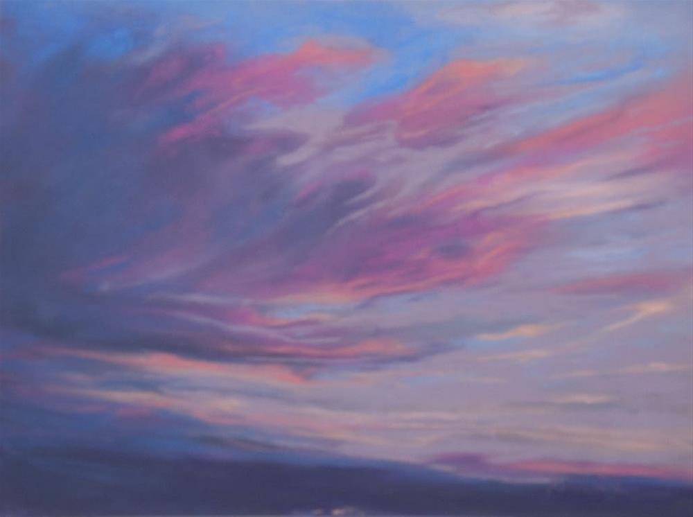 """Sky on Fire"" original fine art by Sarah Peroutka"