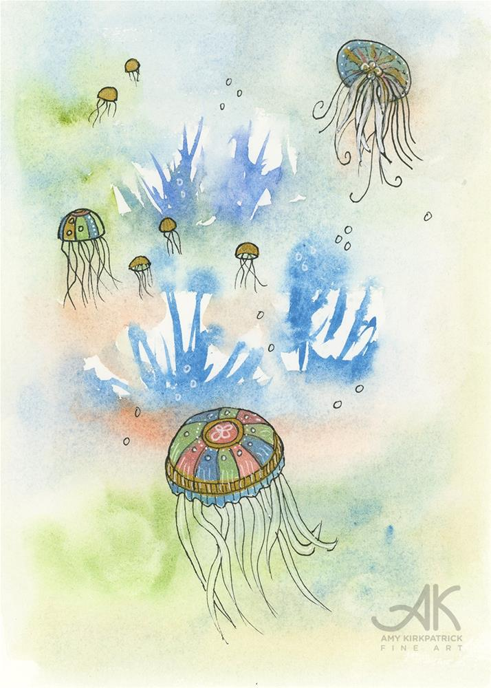 """JELLYFISH #0710"" original fine art by Amy Kirkpatrick"