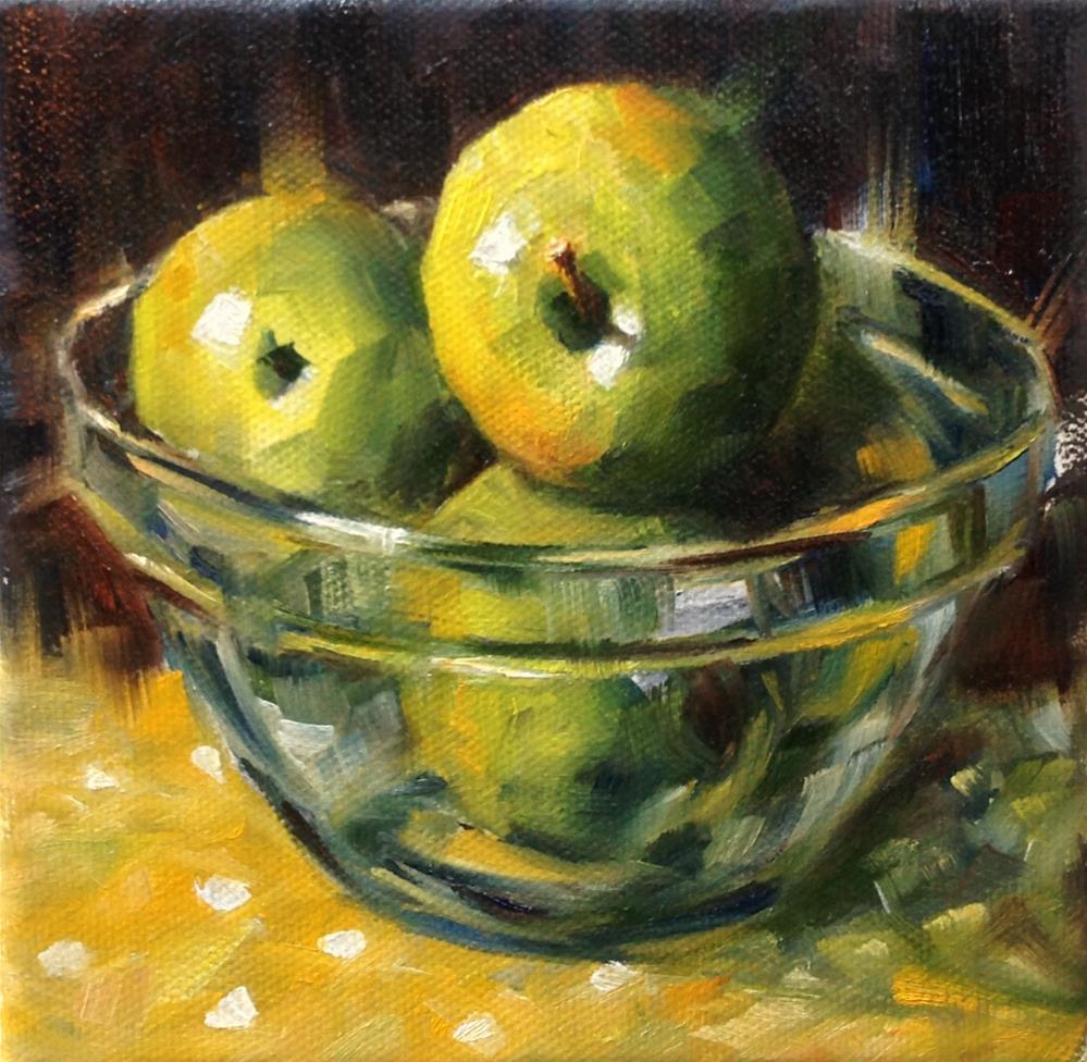 """Green Apples"" original fine art by Irina Beskina"