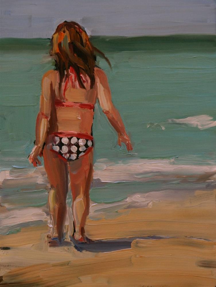 """saunter"" original fine art by Carol Carmichael"
