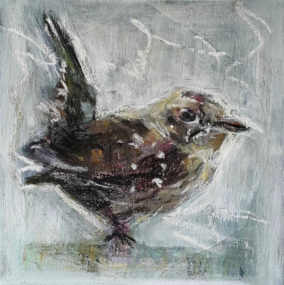 """Too cold for birdsong"" original fine art by Rentia Coetzee"