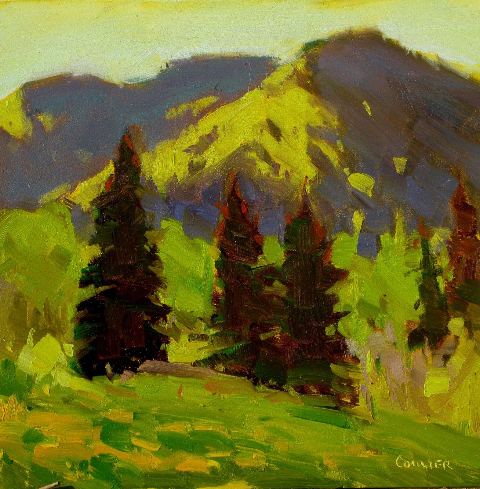 """""""BACKLIT PINES"""" original fine art by James Coulter"""