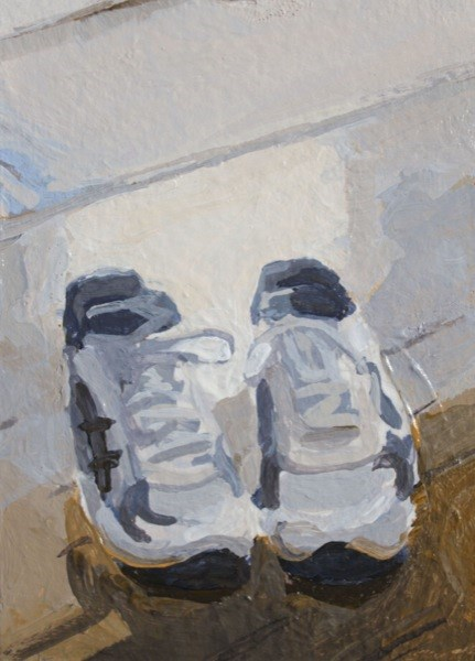 """Running Shoes"" original fine art by Chris Breier"