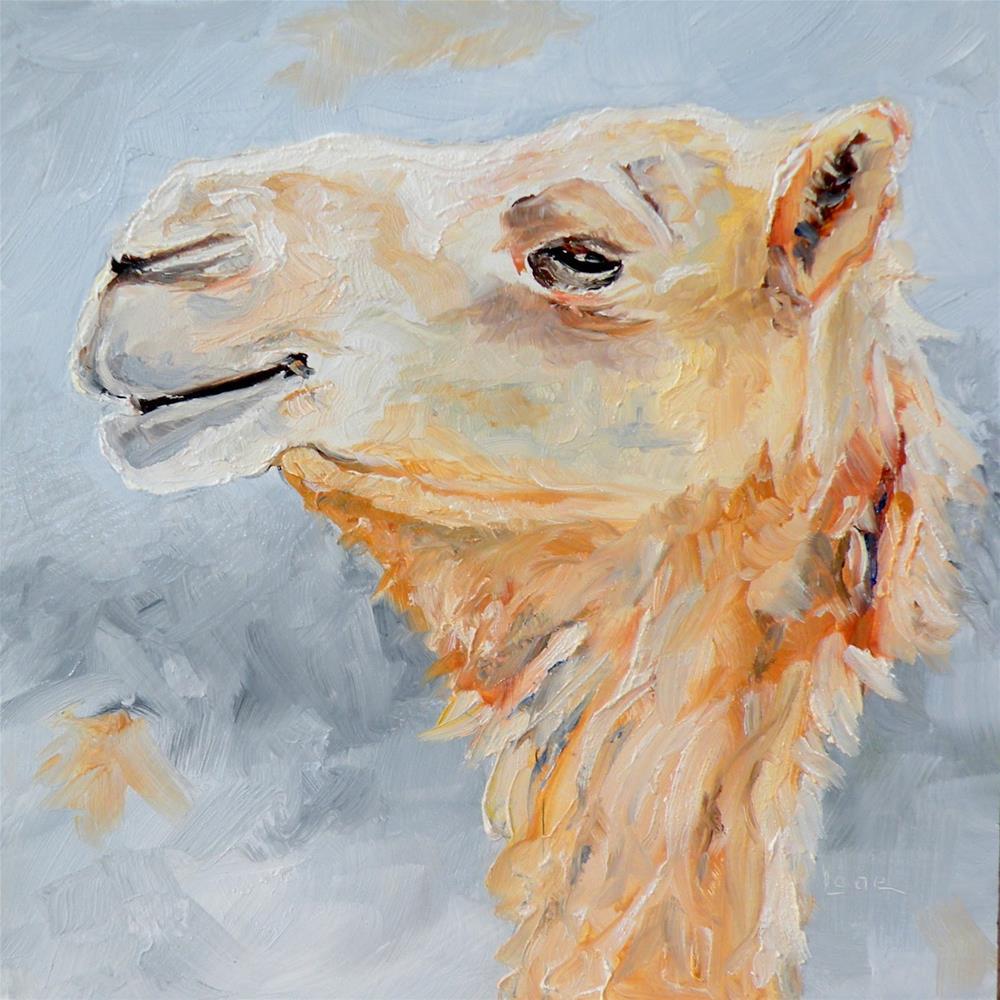 """CAM A CAMEL ORIGINAL OIL ON PANEL © SAUNDRA LANE GALLOWAY"" original fine art by Saundra Lane Galloway"