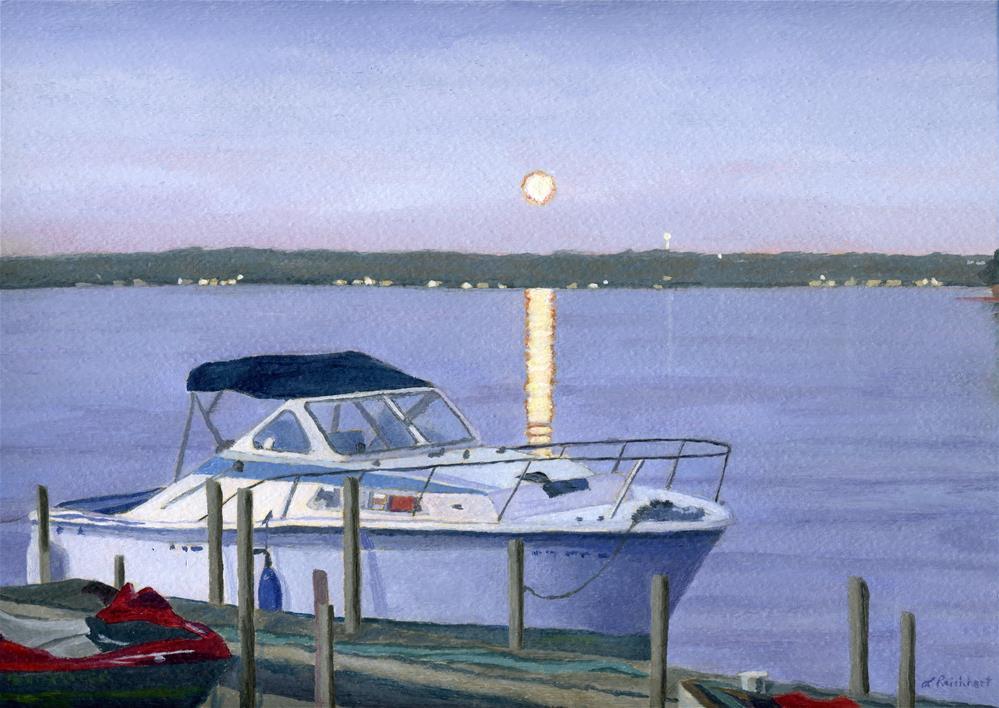 """Blue Moon"" original fine art by Lynne Reichhart"