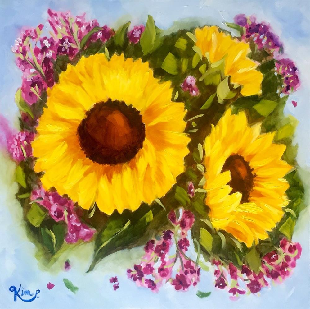 """Sunflower Joy II"" original fine art by Kim Peterson"