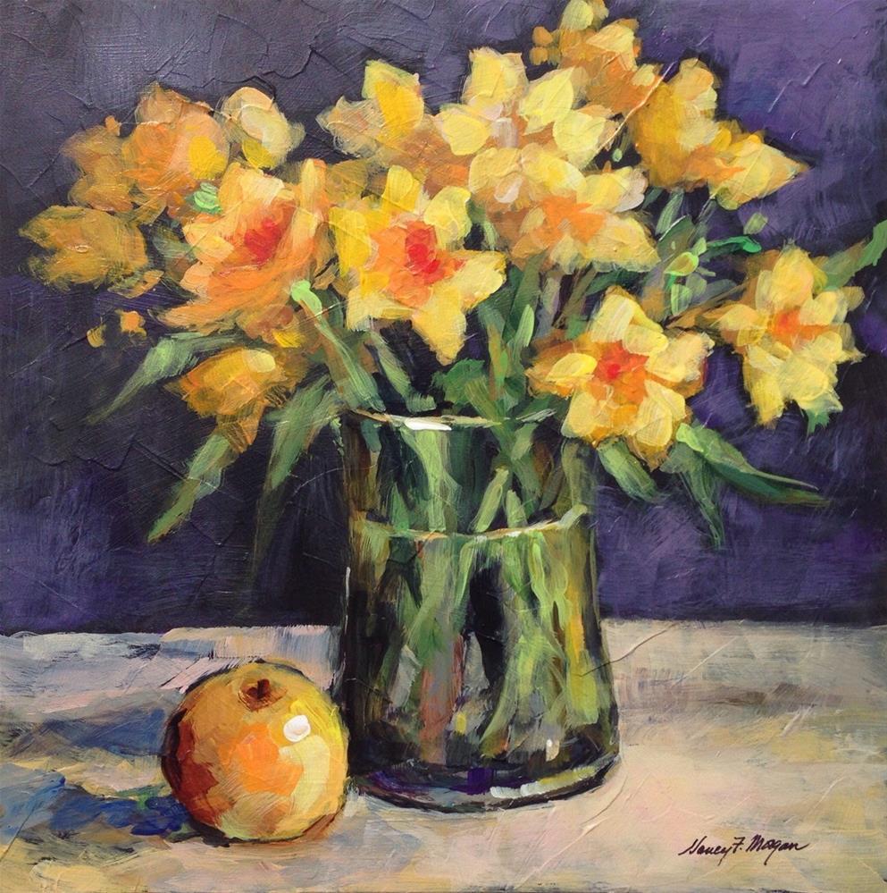 """Golden Daffodils"" original fine art by Nancy F. Morgan"