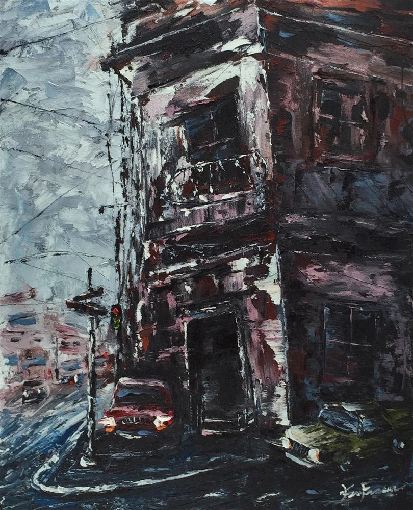 """""""City Street 3"""" original fine art by Ken Fraser"""