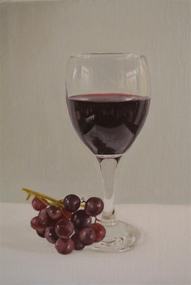 """""""Wine and grapes"""" original fine art by James Coates"""