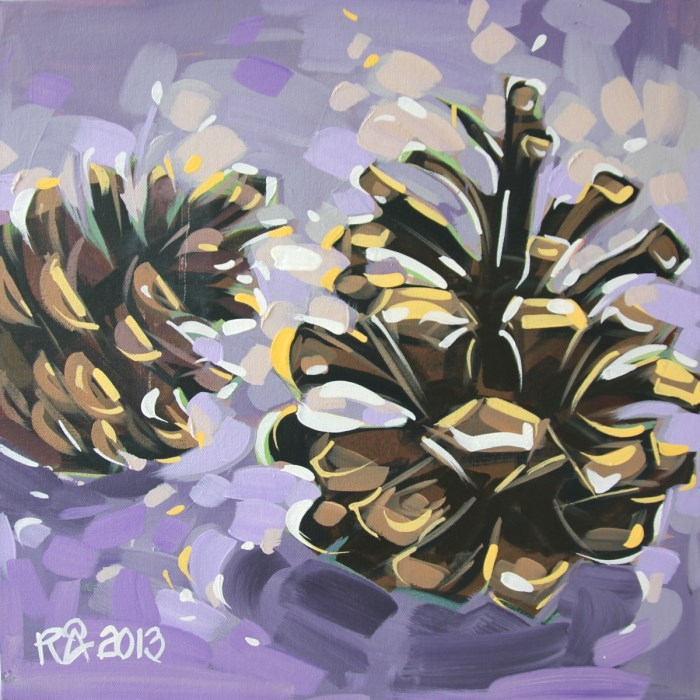 """Pine Cone Abstraction 3"" original fine art by Roger Akesson"