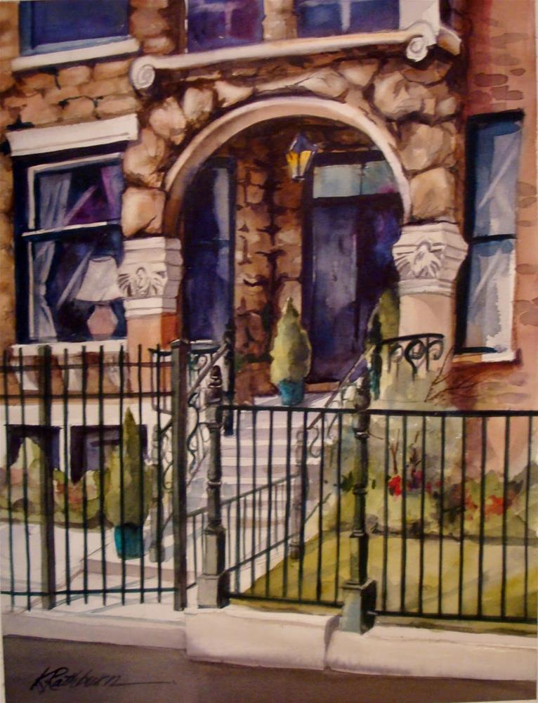 """""""Chicago Fenced In"""" original fine art by Kathy Los-Rathburn"""