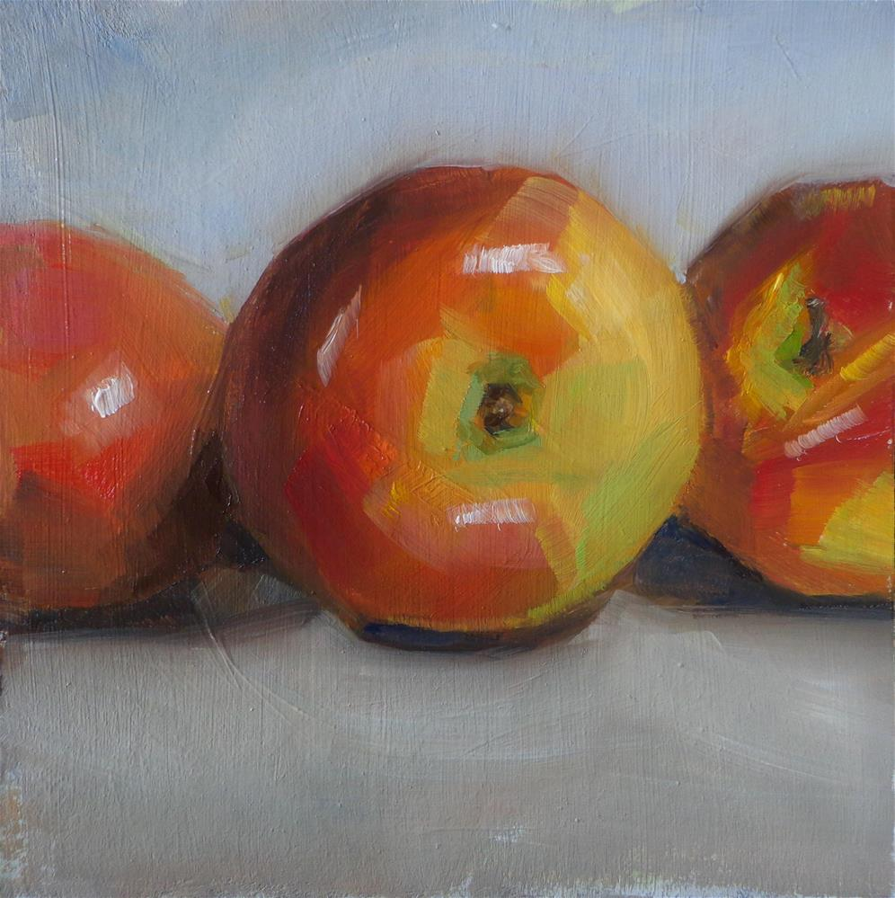 """""""Apples trio"""" original fine art by Maria Z."""