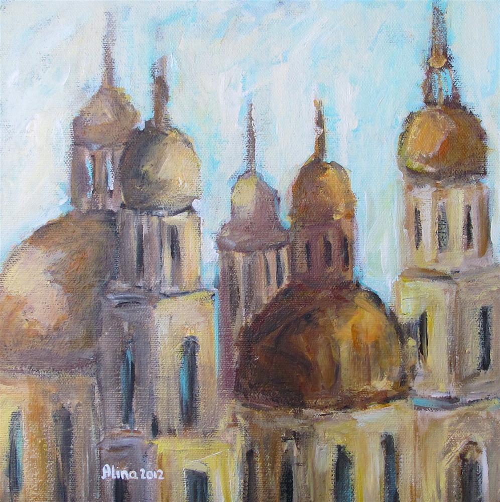 """""""Domes"""" original fine art by Alina Vidulescu"""