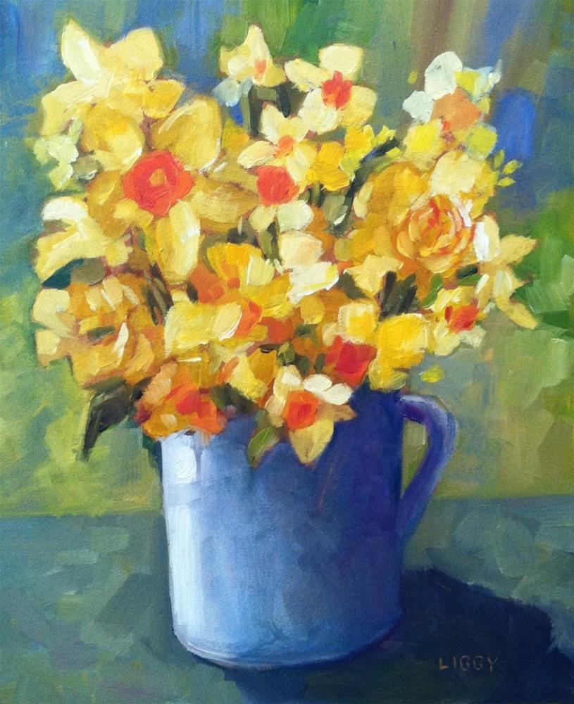 """""""Yellow Variety"""" original fine art by Libby Anderson"""
