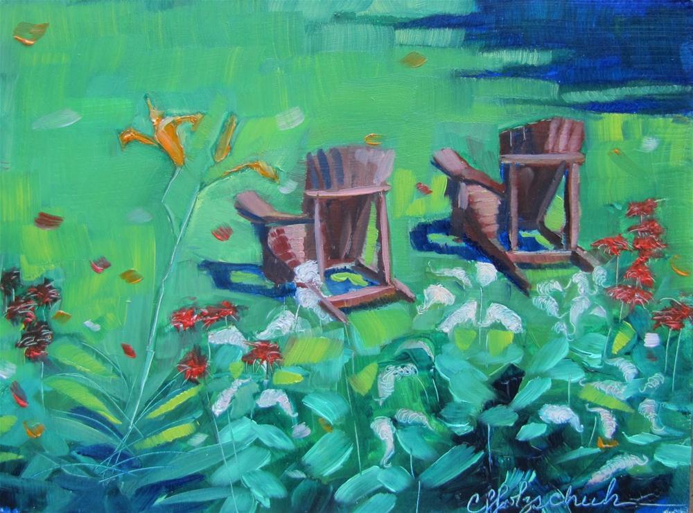 """Permission 5x7 oil $100"" original fine art by Christine Holzschuh"