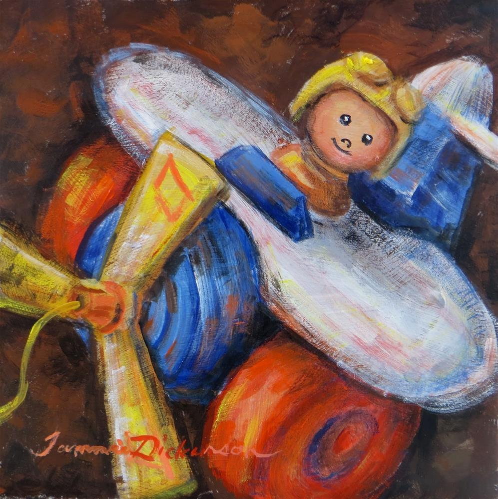 """""""Airplane Pull Toy"""" original fine art by Tammie Dickerson"""