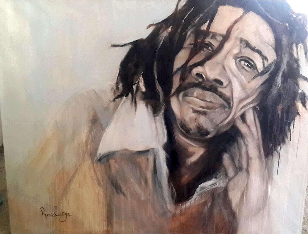 """Say what?"" original fine art by Rentia Coetzee"