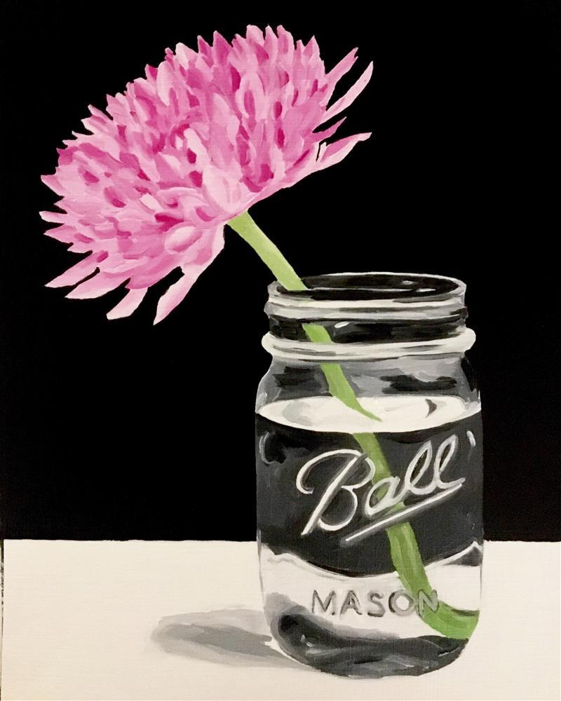 """Pink Flower"" original fine art by Anna Shikany"
