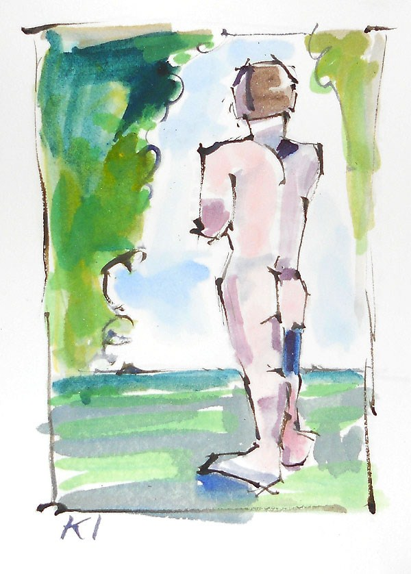 """Watercolor Nude"" original fine art by Kevin Inman"