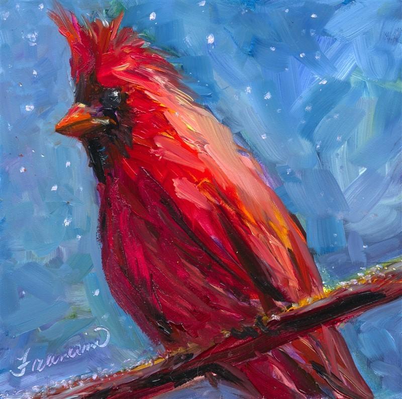 """Cardinal"" original fine art by Francine Dufour~Jones"