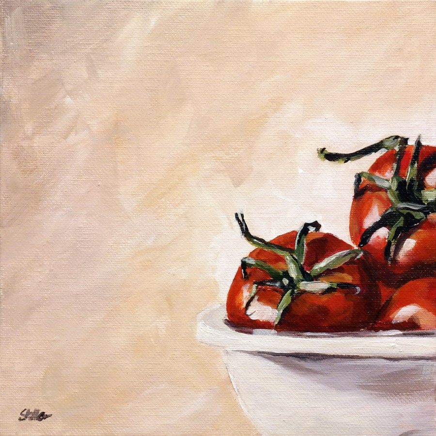 """1520 Tomato Wink"" original fine art by Dietmar Stiller"