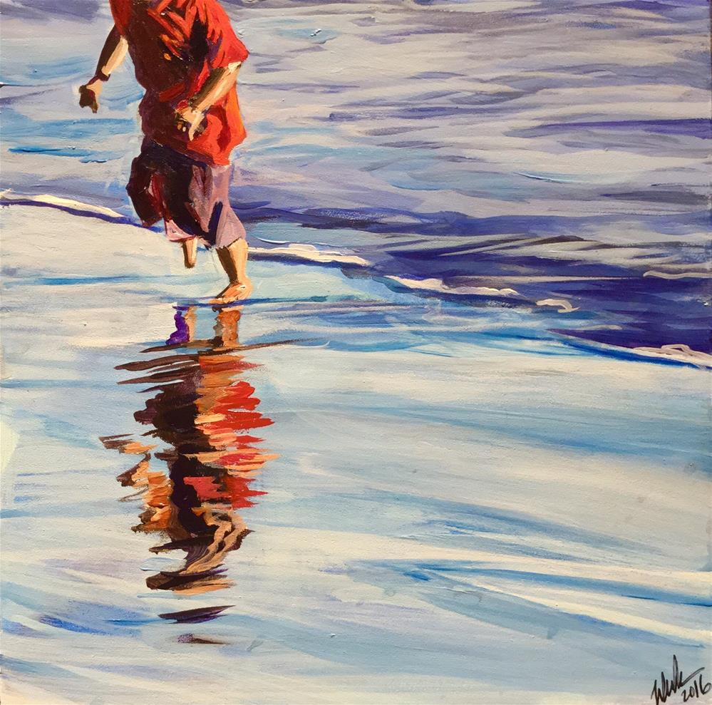 """Shore Boy"" original fine art by Lauren Kuhn"