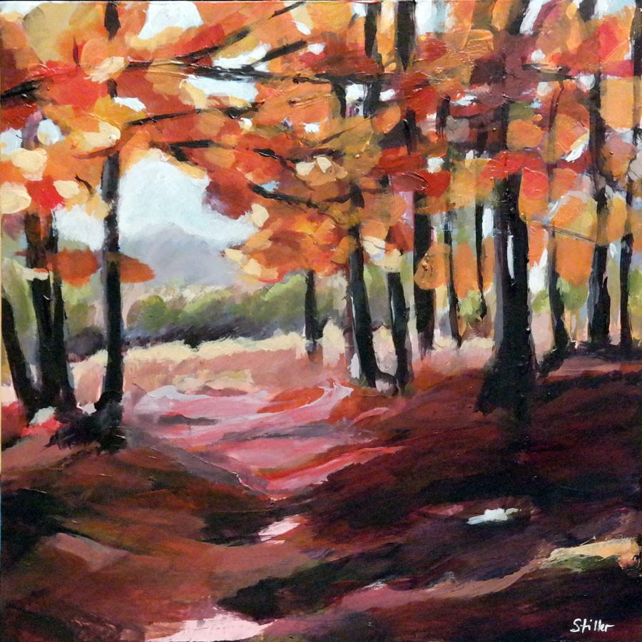 """2636 November Red"" original fine art by Dietmar Stiller"