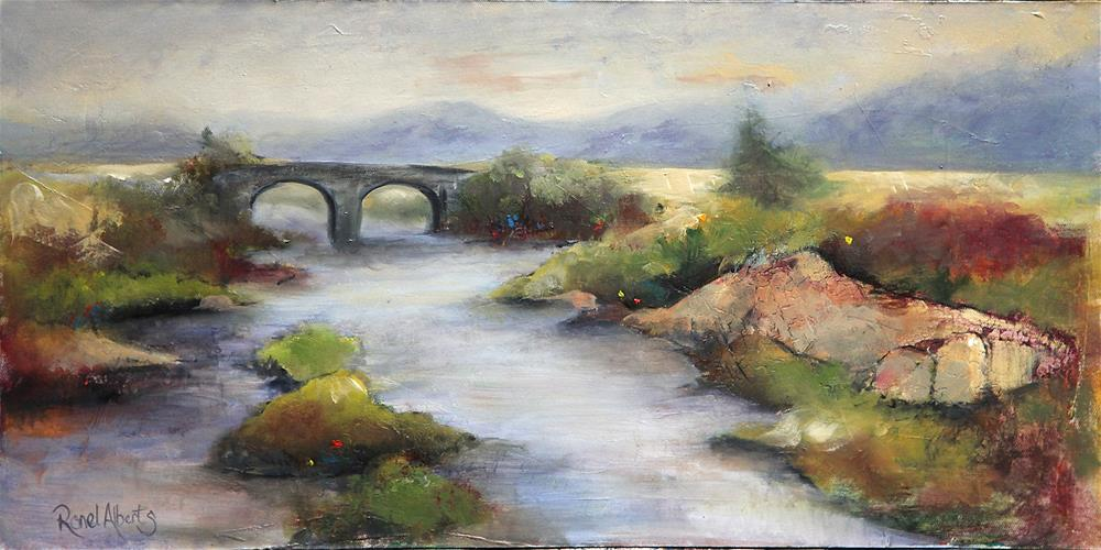 """Down by the river"" original fine art by Ronel Alberts"