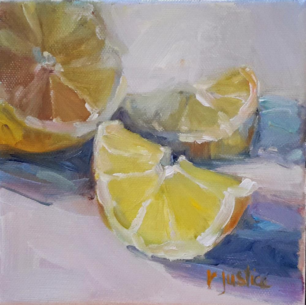 """Sour Slice"" original fine art by Rebecca Justice-Schaab"