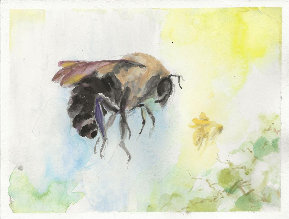 """Bees"" original fine art by Jean Krueger"