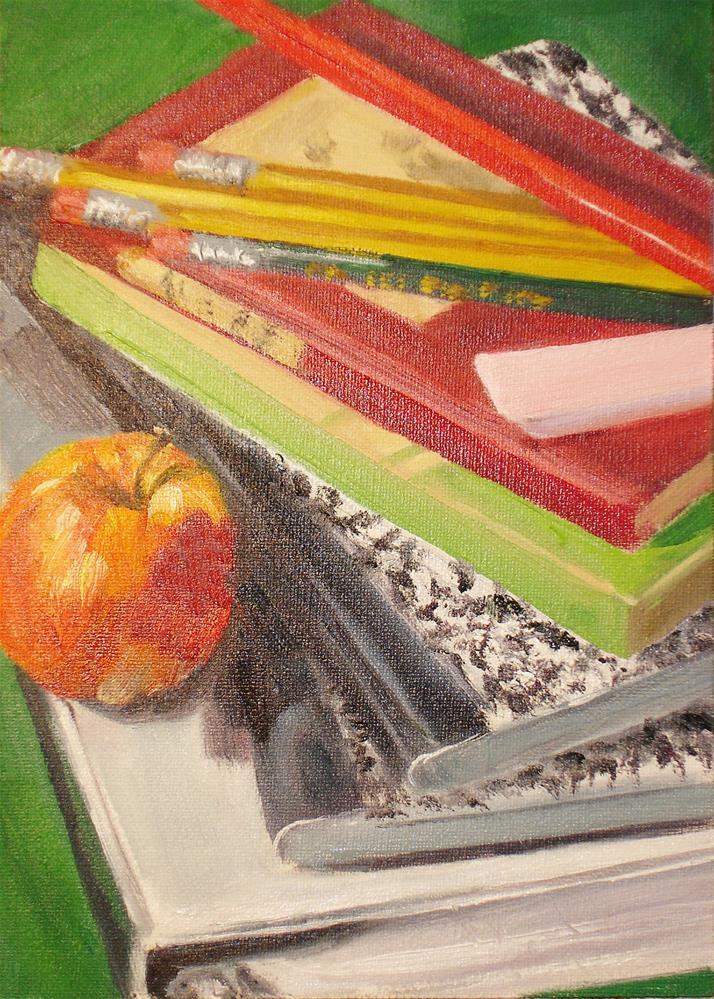 """Back to School"" original fine art by Linda Lowery"