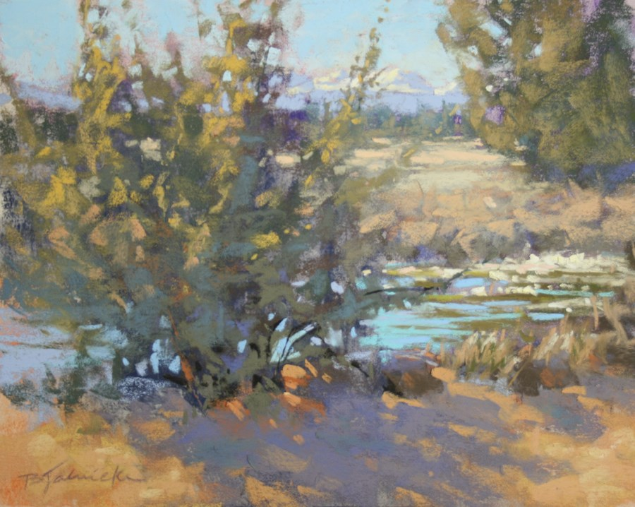 """Along the Canal"" original fine art by Barbara Jaenicke"