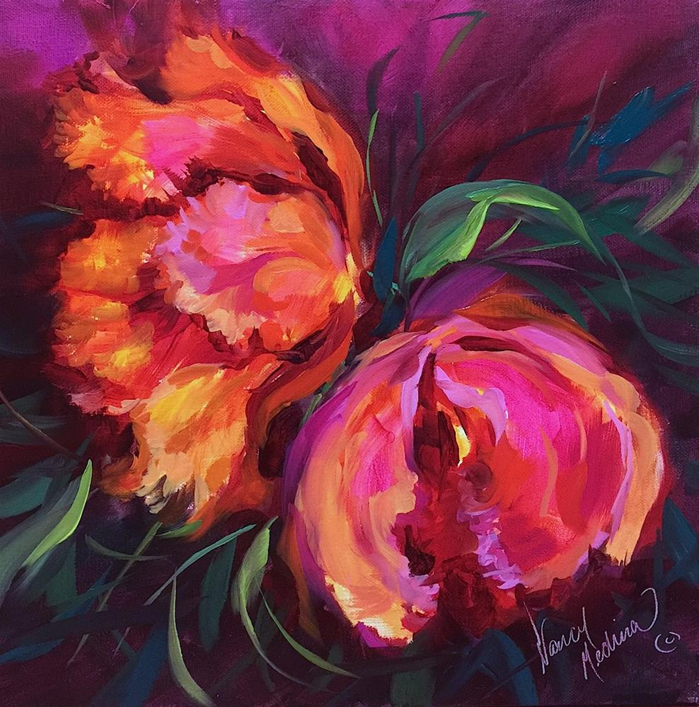 """Two Alarm Tulips and a Southern France Workshop"" original fine art by Nancy Medina"