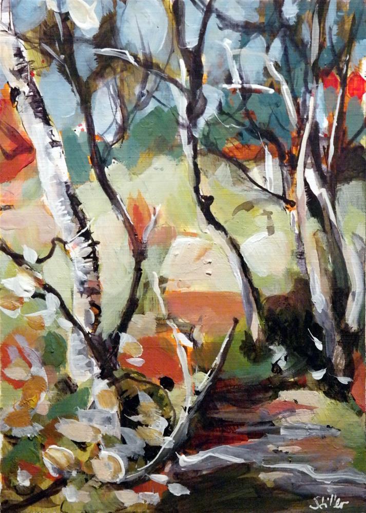 """2633 November Birch"" original fine art by Dietmar Stiller"