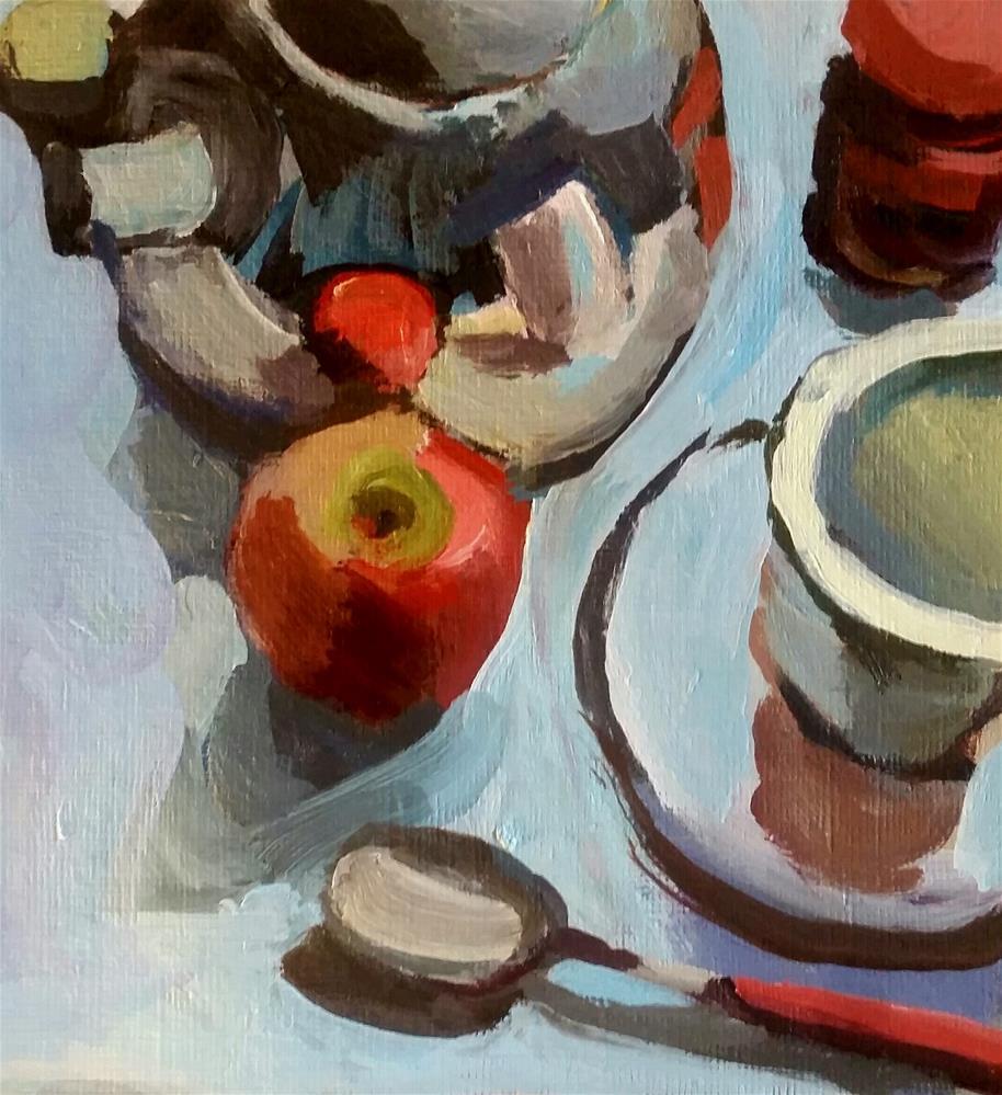 """Counter Assembly"" original fine art by Liz Maynes"